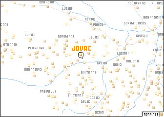 map of Jovac