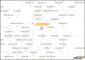 map of Jovaišai