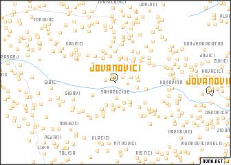 map of Jovanovići