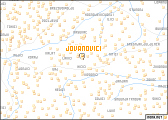 map of Jovanovići