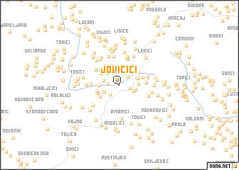 map of Jovičići