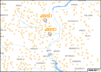 map of Jovići