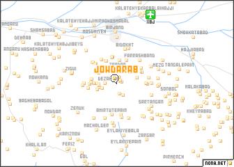 map of Jow Darāb