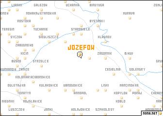 map of Józefów