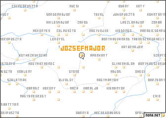 map of Józsefmajor