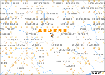 map of Juan Chámpara