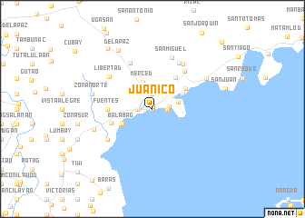 map of Juanico