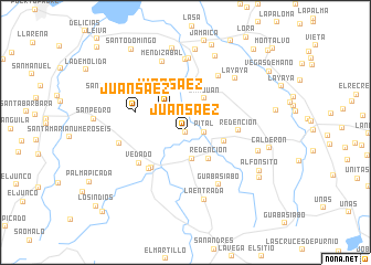 map of Juan Sáez