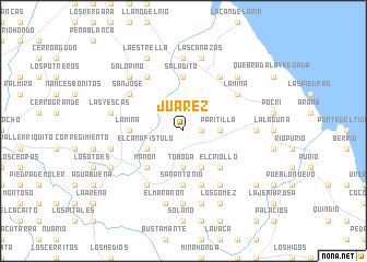 map of Juárez