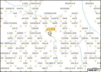 Juba Ethiopia map nonanet