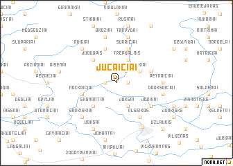 map of Jucaičiai