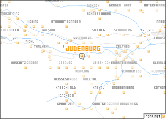 map of Judenburg