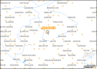 map of Judikiai