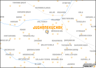 map of Jūghān-e Kūchak