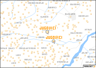 map of Jugovići