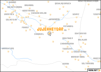 map of Jūjeh Ḩeydar