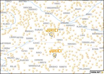 map of Jukići