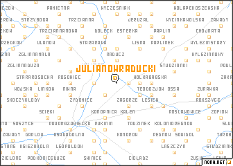 map of Julianów Raducki
