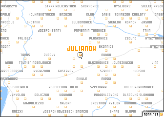 map of Julianów