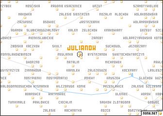 map of Julianów