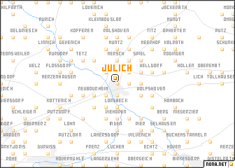 map of Jülich