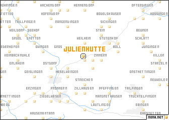 map of Julienhütte