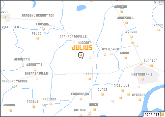 map of Julius