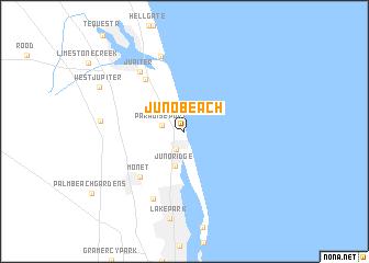 map of Juno Beach
