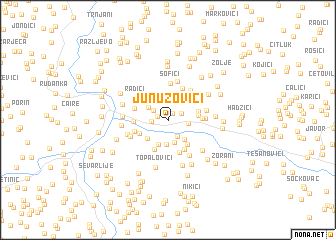 map of Junuzovići