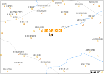 map of Juodeikiai