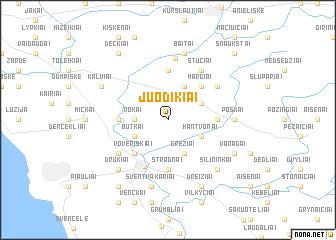 map of Juodikiai