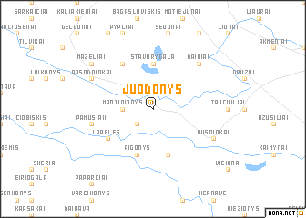 map of Juodonys