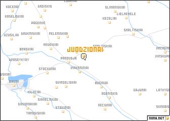 map of Juodžionai