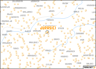 map of Jurašići