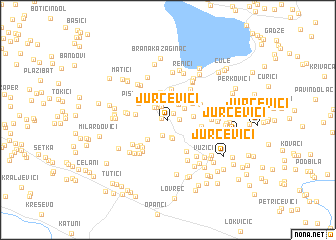 map of Jurčevići