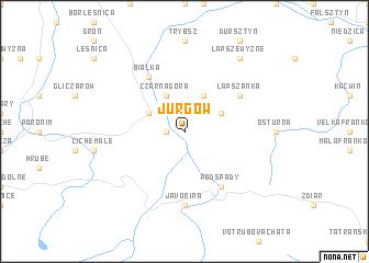 map of Jurgów
