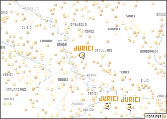 map of Jurići