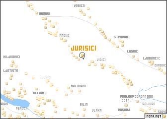 map of Jurišići