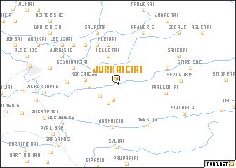 map of Jurkaičiai