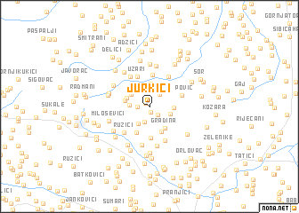 map of Jurkići
