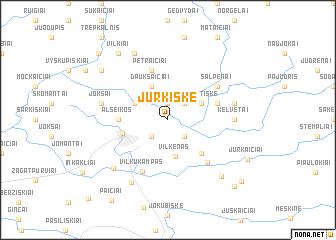 map of Jurkiškė