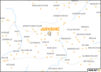 map of Jurkovac