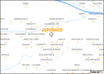 map of Jurkowice