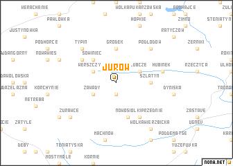 map of Jurów