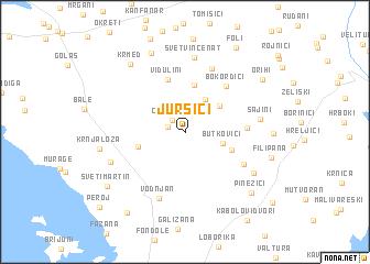 map of Juršići