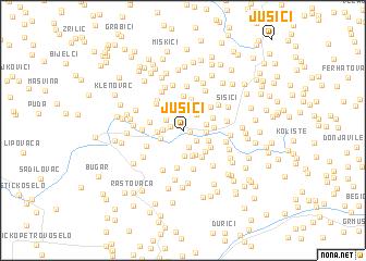 map of Jušići