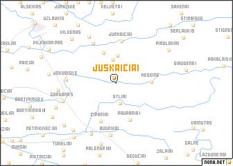 map of Juškaičiai