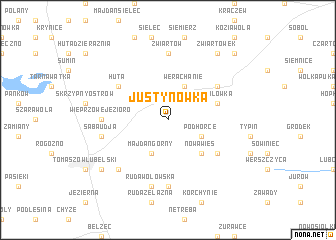 map of Justynówka