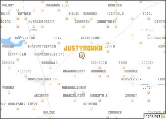 map of Justynówka