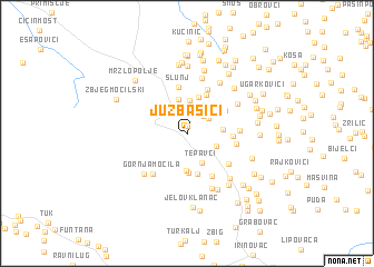 map of Juzbašići